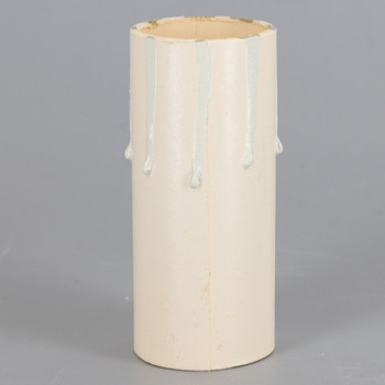 3in. Paper E-26 Base Candle Socket Cover - Edison - Ivory Drip
