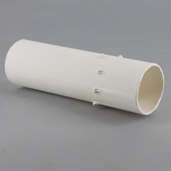 3in. Long Paper/Fiber E-12 Candelabra Base Candle Socket Cover - White Drip