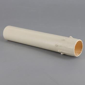 5in. Long Paper/Fiber E-12 Candelabra Base Candle Socket Cover - Ivory Drip
