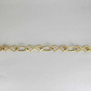 XO Diamond Design Decorative Cast Lamp Chain - Unfinished Brass