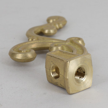 1/8ips Female Threaded Top And Side Square Scroll Armback Cast Brass - Unfinished Brass