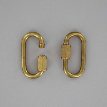 1/8in. Thick Solid Brass Quick Link