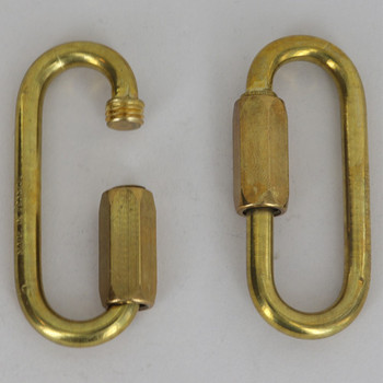 1/4in. Thick Large Opening Solid Brass Quick Link
