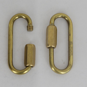 1/8 Thick LONG OPENING BRASS QUICK LINK