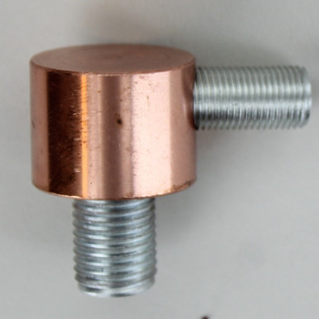 1/4ips X 1/8ips Threaded - 1in Diameter 90 Degree Disc Armback - Unfinished Copper