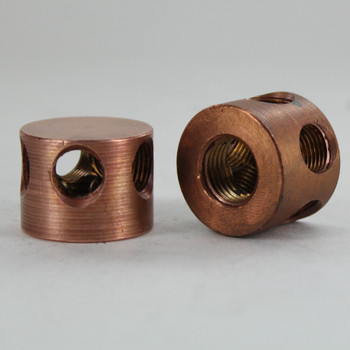 1/4ips X (5) 1/8ips Threaded - 1in Diameter Disc Armback - Unfinished Copper
