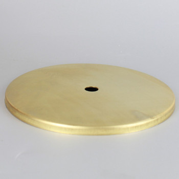 5 In. Diameter Stamped Brass Straight Edge Checkring - Unfinished Brass