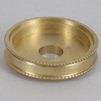1-3/8in Diameter Turned Brass Beaded Brass Checkring