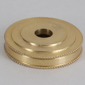 1-1/2in Diameter Turned Brass Beaded Brass Checkring