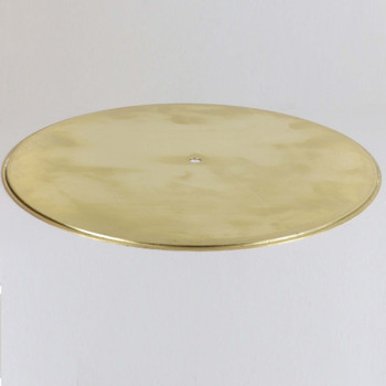 12in Spun Brass Reverse Check Ring Cover - Unfinished Brass