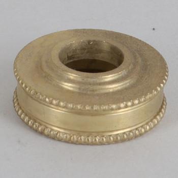 3/4in Diameter Turned Brass Beaded Brass Checkring