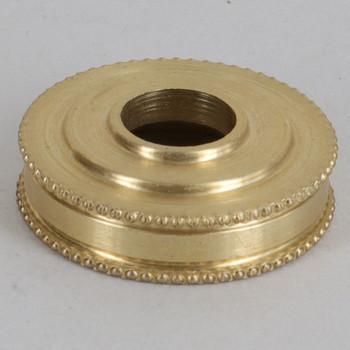 1in Diameter Turned Brass Beaded Brass Checkring