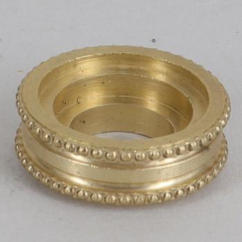 5/8in Diameter Turned Brass Beaded Brass Checkring