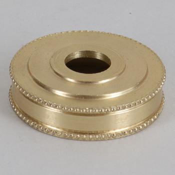 1-1/4in Diameter Turned Brass Beaded Brass Checkring