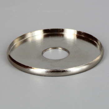 1in. x 1/8ips slip Polished Nickel Finish Turned Brass Check Ring