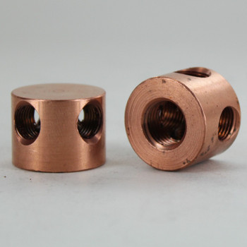 1/4ips x (4) 1/8ips Threaded - 1in Diameter Disc Armback - Unfinished Copper