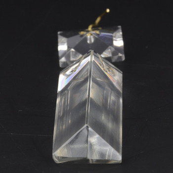 76mm (3in.) Crystal Colonial with Square Jewel and Brass Clip