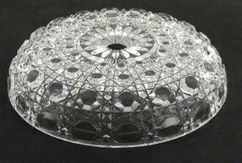 LEAD CRYSTAL OCTOGAN HOBNAIL BOBESCHE WITH 1/2in CENTER HOLE