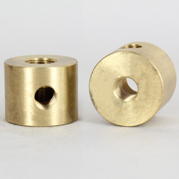 1/8ips Threaded - 1-1/4in Diameter 3 Way  Disc Armback - Unfinished Brass
