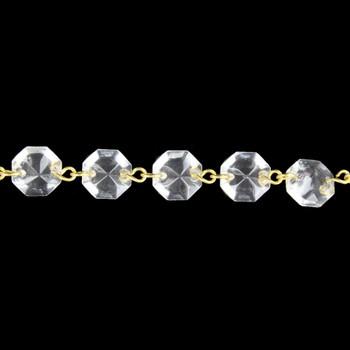 12mm. Small Uniform Crystal Brass Pin Chain