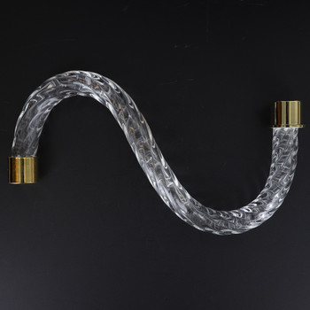 8in. Roped Crystal S-Arm with Brass Plated Ends