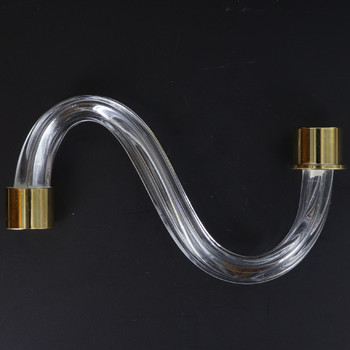 6in. Fluted Crystal S-Arm with Gold Ferrules