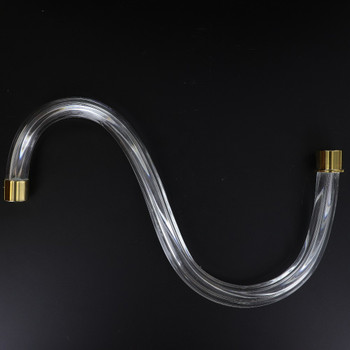 12in. Fluted Crystal S-Arm with Gold Ferrules