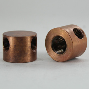 1/4ips X (3) 1/8ips Threaded - 1in Diameter Y Fitting Disc Armback - Unfinished Copper