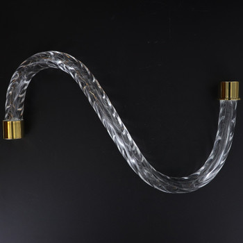 10in. Roped Crystal S-Arm with Gold Ferrules