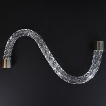 8in. Roped Crystal S-Arm with Chrome Ferrules