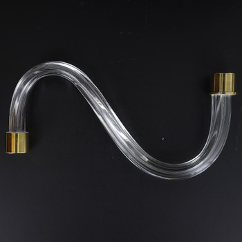 8in. Fluted Crystal S-Arm with Gold Ferrules
