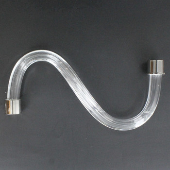 8in. Fluted Crystal S-Arm with Chrome Ferrules