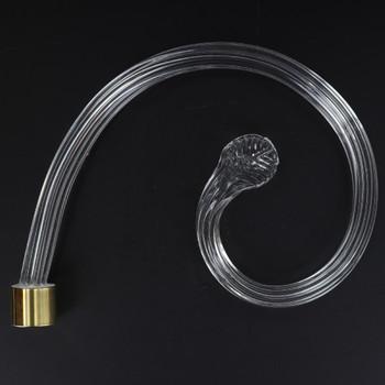 6in. Crystal Scroll Arm with Gold Ferrule