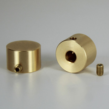 3/4in. x 1/2in. Plain Dimmer Knob Unfinished Brass With Set Screw