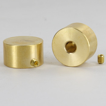7/8in.Diameter Plain Dimmer Knob Unfinished Brass With Set Screw