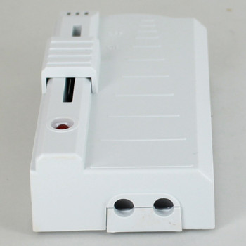 In-line Sliding Foot Dimmer With LCD Indicator, Non Wired - White