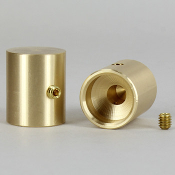 7/8in. x 3/4in. Plain Dimmer Knob Unfinished Brass With Set Screw (Recessed)