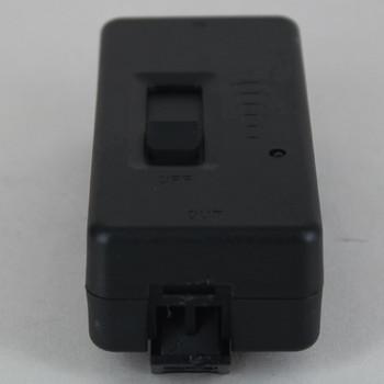 Slide Tabletop Snap-On Full Range Cord Dimmer - SPT-2 Wire - Black