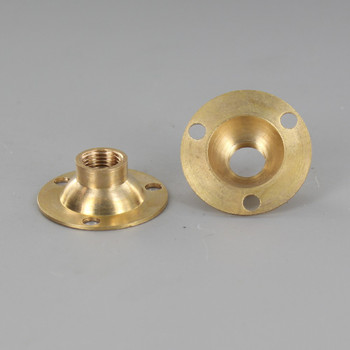 Unfinished Brass Flange with 1/8ips. Threaded Center Hole