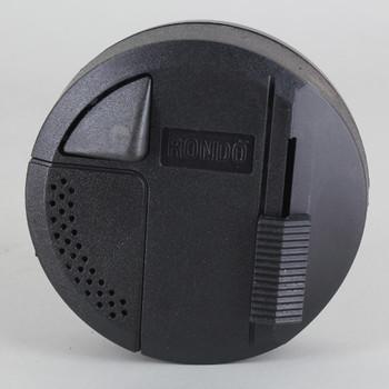 Rondo 2 Lamp LED - Incandescent  / Halogen Switch + Dimmer - Black