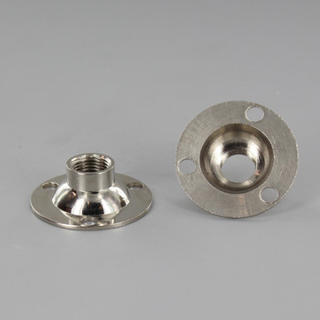 Polished Nickel Finish Flange with 1/8ips. Threaded Center Hole