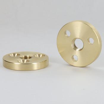 1/8ips Threaded 1-1/2in Diameter Turned Solid Brass Heavy Duty Flange