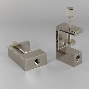 Polished Nickel Finish Book Shelf Clamp with Square Knob