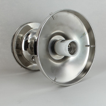 6in. Fitter 3 in. Neck Semi-Flush Lighting Fixture - Polished Nickel