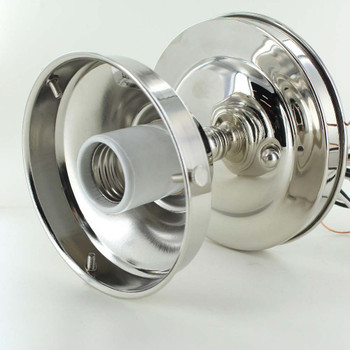 4in. Fitter Polished Nickel Finish Semi-Flush Ceiling Fixture