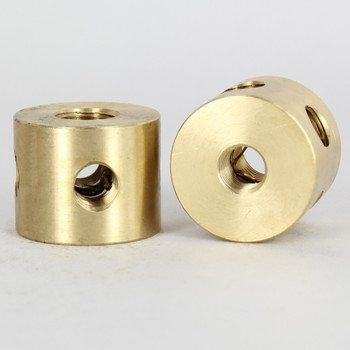 5 - 1/8ips Side Holes x 1/4ips Top x 1/8ips Bottom Disc Armback - Unfinished Brass