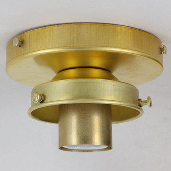 3-1/4 Fitter Flush Mount Fixture - Unfinished Brass
