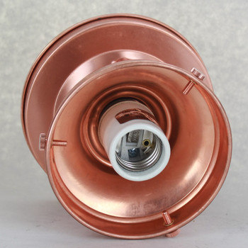 4 in. Fitter Copper Semi-Flush Ceiling Fixture - U.L. Listed