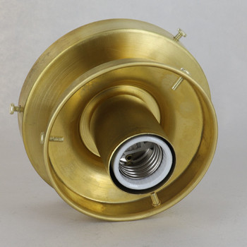 4in Fitter Flush Mount Fixture Brass