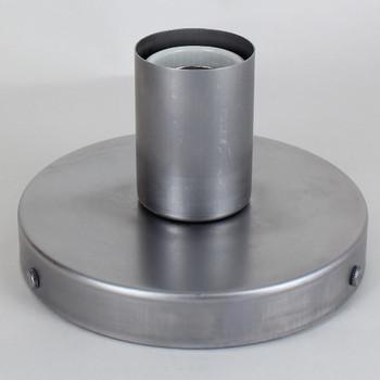 1 Light Flush Surface Mount Raw Steel Fixture